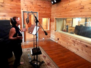 Amy laying it down in the Quad recording booth